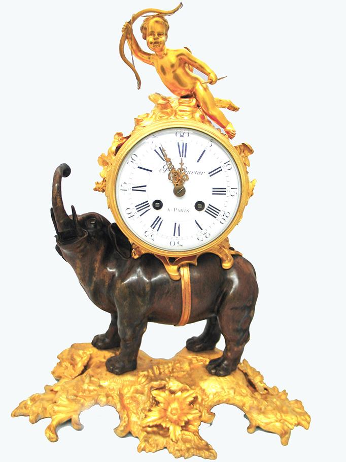 French Bronze Clock