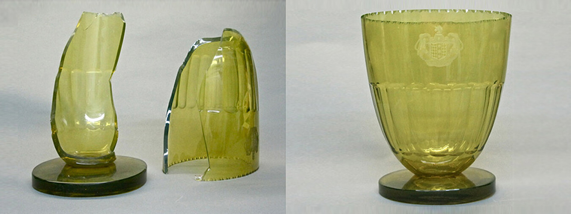 Restoration of Glass. 19th Century American Glass Vase.