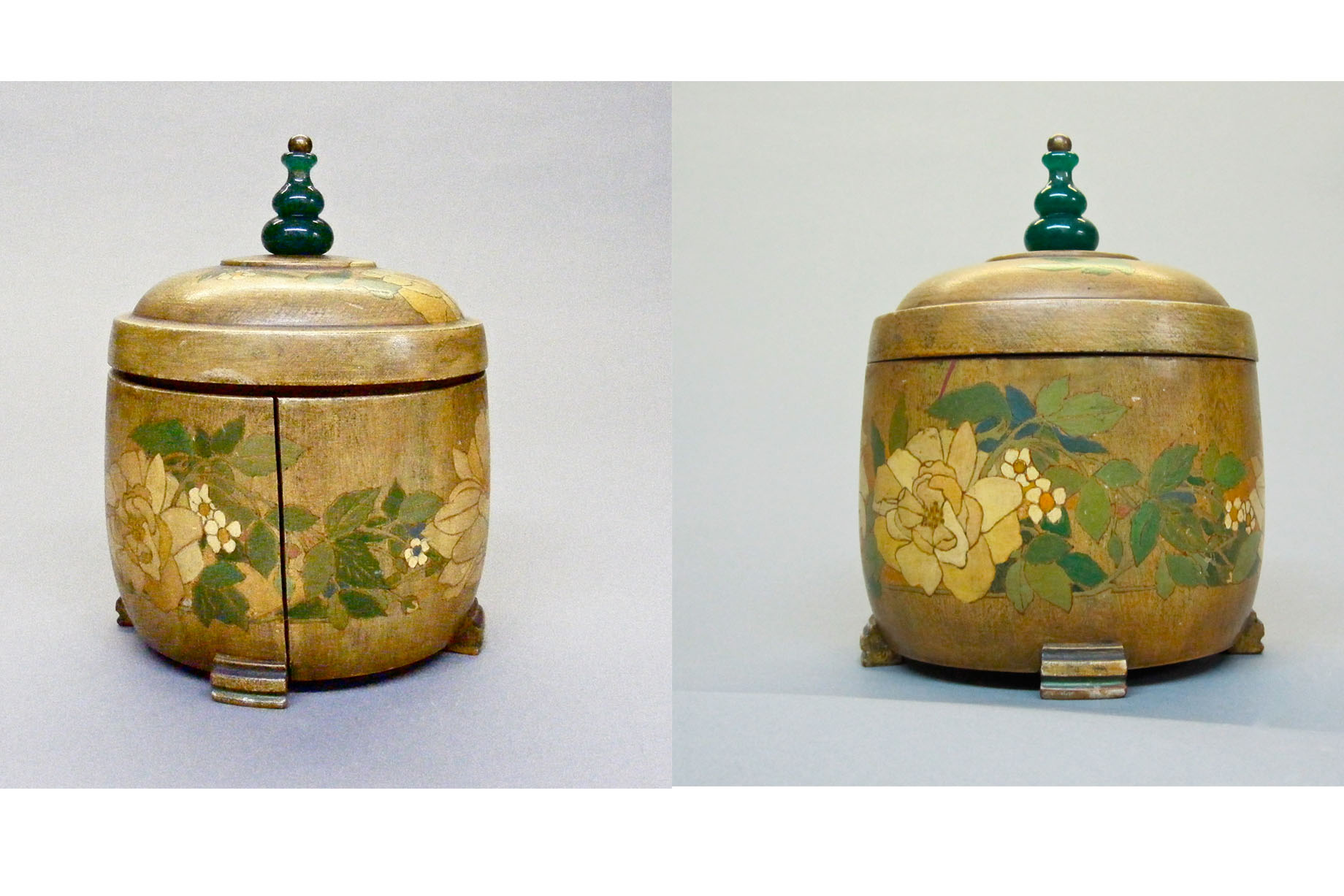 Restoration of Wooden Jar. Arts and Crafts Movement. Arthur and Lucia Mathews.