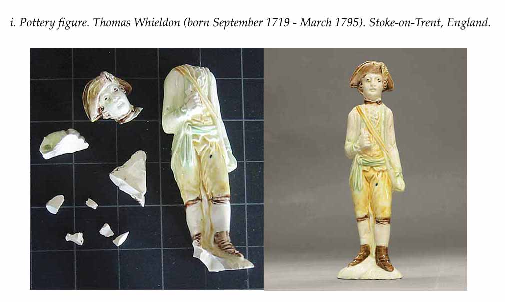 Restoration of Ceramic Figure. Thomas Whieldon ( 1719 - 1795). Stoke-on-Trent, England